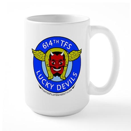 614th TFS Lucky Devils Large Mug