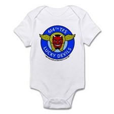 614th TFS Lucky Devils Infant Bodysuit