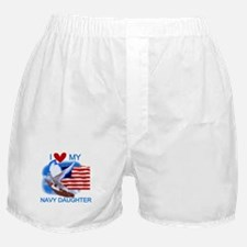 Love My Navy Daughter Boxer Shorts