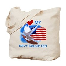 Love My Navy Daughter Tote Bag
