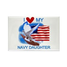 Love My Navy Daughter Rectangle Magnet