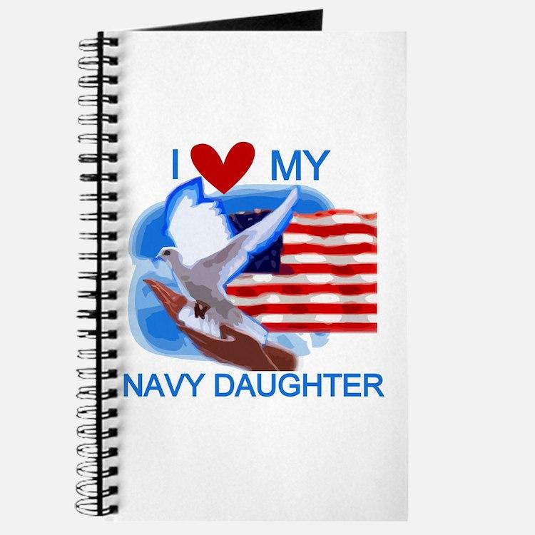 Love My Navy Daughter Journal
