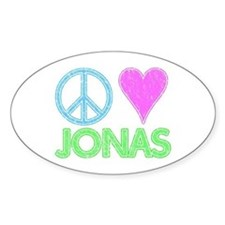 Peace Love Jonas Oval Decal
