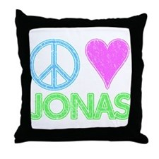Peace Love Jonas Throw Pillow