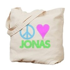 Peace Love Jonas Tote Bag