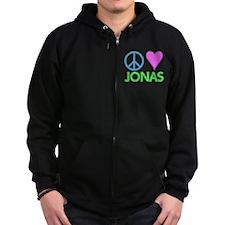 Peace Love Jonas Zip Hoodie