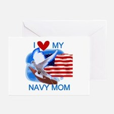 Love My Navy Mom Greeting Cards (Pk of 10)