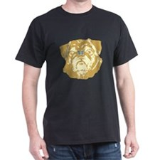 Pug and Butterfly Black T-Shirt