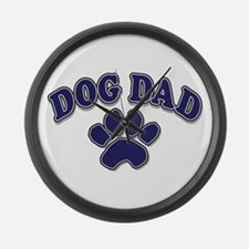Dog Dad Father's Day Large Wall Clock