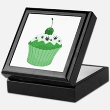 Mary Jane's Green Cupcake Keepsake Box
