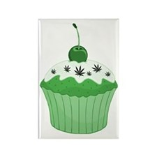 Mary Jane's Green Cupcake Rectangle Magnet