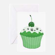 Mary Jane's Green Cupcake Greeting Card