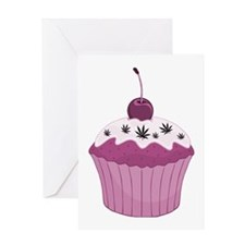 Mary Jane's Pink Cupcake Greeting Card