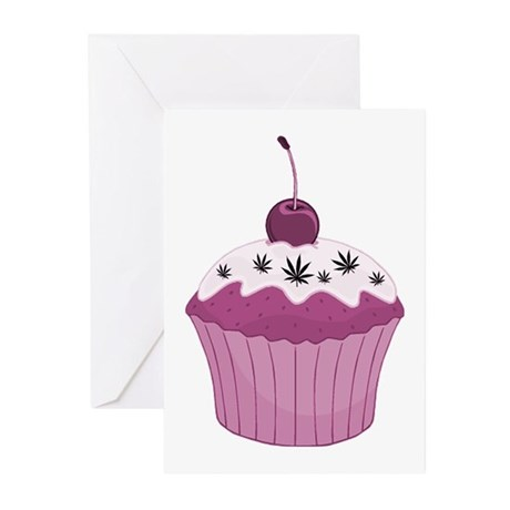 Mary Jane's Pink Cupcake Greeting Cards (Pk of 20)