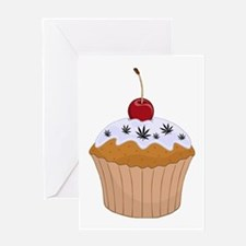 Mary Jane's Cupcake (Color) Greeting Card