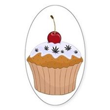 Mary Jane's Cupcake (Color) Oval Decal
