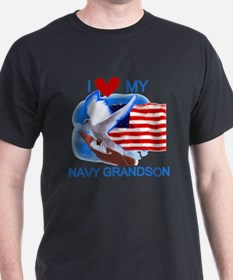 Love My Navy Grandson T-Shirt