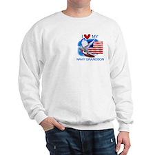 Love My Navy Grandson Sweatshirt