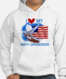 Love My Navy Grandson Jumper Hoody