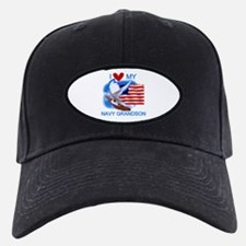 Love My Navy Grandson Baseball Hat