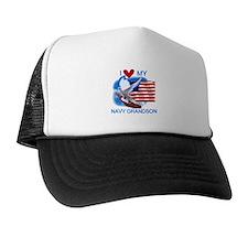 Love My Navy Grandson Trucker Hat
