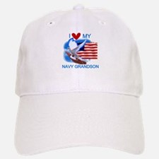 Love My Navy Grandson Baseball Baseball Cap