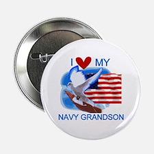 "Love My Navy Grandson 2.25"" Button (10 pack)"