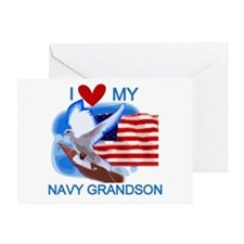 Love My Navy Grandson Greeting Card