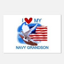 Love My Navy Grandson Postcards (Package of 8)