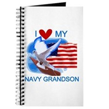 Love My Navy Grandson Journal