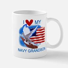 Love My Navy Grandson Mug