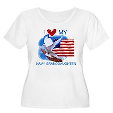 Love My Navy Granddaughter T-Shirt
