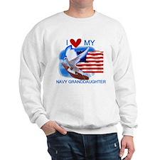 Love My Navy Granddaughter Sweatshirt