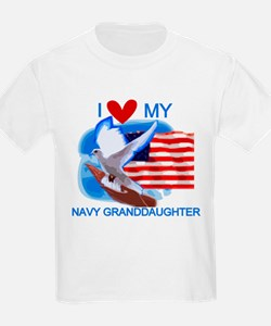 Love My Navy Granddaughter T-Shirt