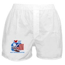 Love My Navy Granddaughter Boxer Shorts