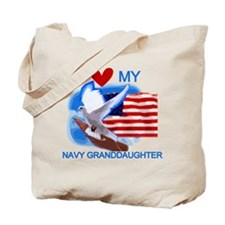 Love My Navy Granddaughter Tote Bag