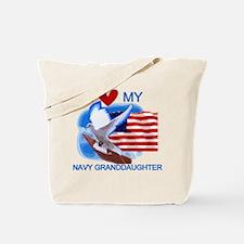 Love My Navy Granddaughter Tote Bag