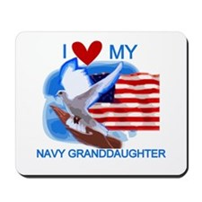Love My Navy Granddaughter Mousepad