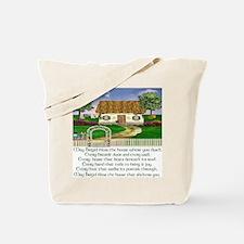 Irish House Blessing Tote Bag
