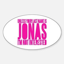 Only A Jonas Bro. Oval Decal