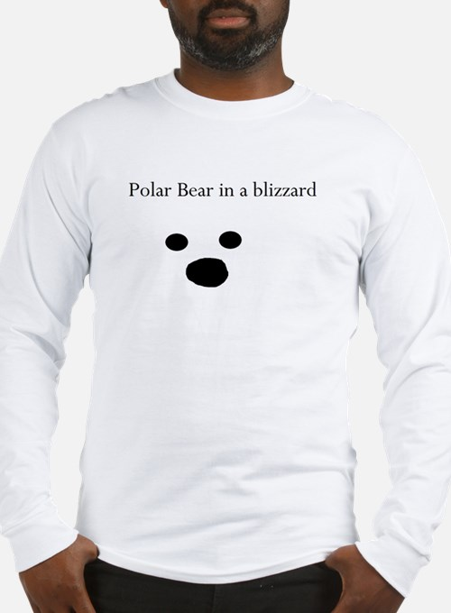 Polar Bear in a blizzard Mens Long Sleeve T-Shirt