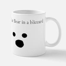 Polar Bear in a blizzard Mug