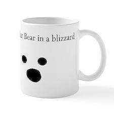 Polar Bear in a blizzard Small Mug