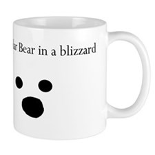 Polar Bear in a blizzard Small Mug