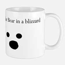 Polar Bear in a blizzard Small Small Mug
