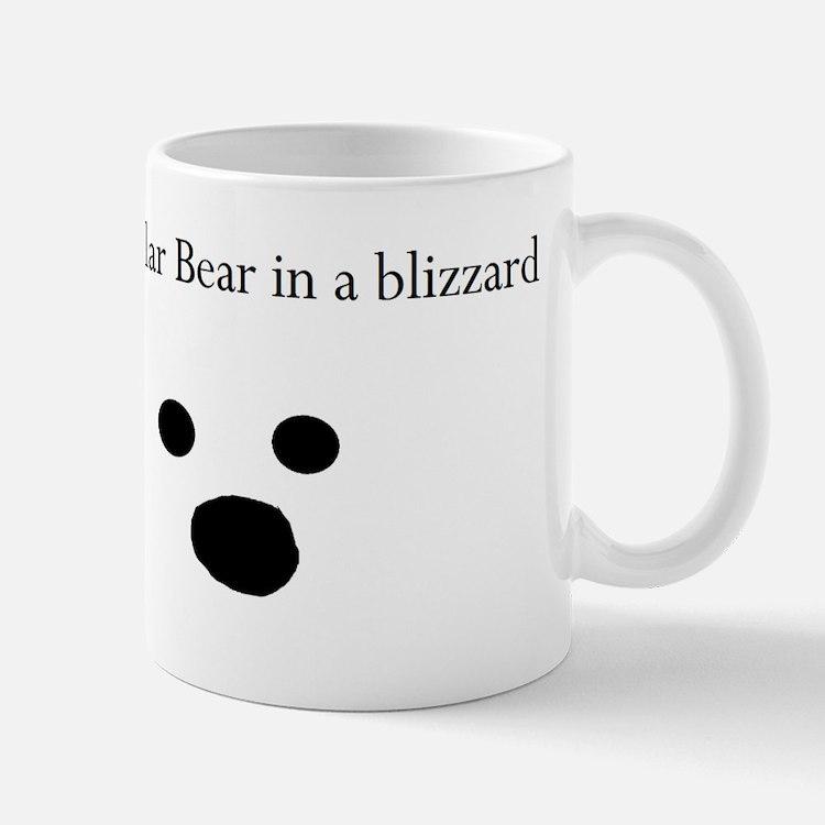 Polar Bear in a blizzard Small Small Mug