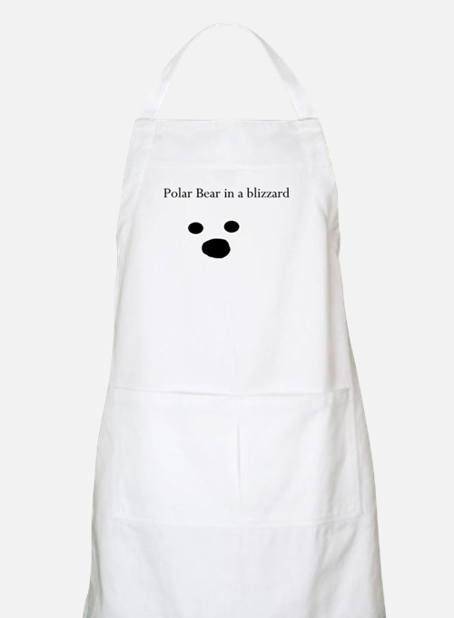 Polar Bear in a blizzard BBQ Apron