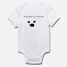 Polar Bear in a blizzard Infant Bodysuit