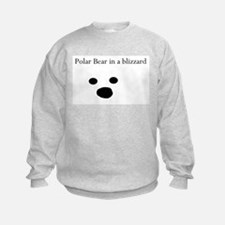 Polar Bear in a blizzard Sweatshirt