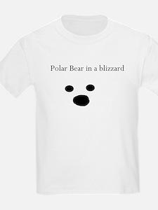 Polar Bear in a blizzard Kids T-Shirt